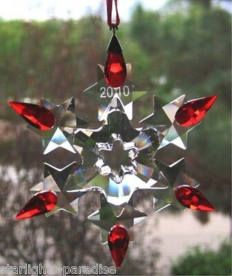 SWAROVSKI 2010 CHRISTMAS RED TIP STAR LIMITED EDITION  BRAND NEW condition