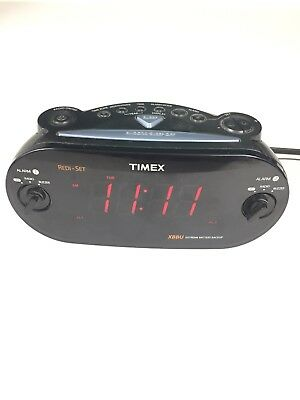 Timex XBBU Redi-Set Dual Alarm Clock Radio T715 AM FM Large Display w/ Antenna