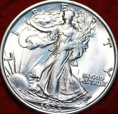 Uncirculated 1935 Philadelphia Mint Silver Walking Liberty Half