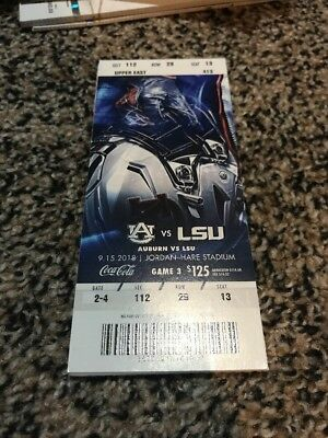 2018 Auburn Tigers Vs Alabama State College Football Ticket Stub 9/8