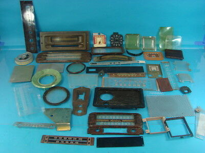 Lot Of 45 Vtg Tube Radio Tuning Dial Covers Bakelite Glass Rca Victor Knight Ge