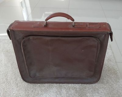 Vintage 1950s Skyways by Lacy & Osborne Leather Suitcase, Hanging Garment Bag