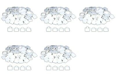 400 White Puff Pad Earring Cards Jewelry Display 1 X 1