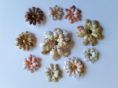 10 x Handmade 3D Die Cut Flowers #16 - Perfect for Scrapbooking,Cards