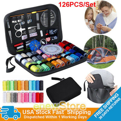 NEW 126Pcs Portable Sewing Kit Home Travel Emergency Professional Sewing Set USA
