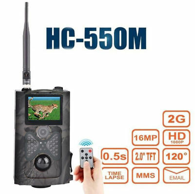 HC-550M Infrared Trail Hunting Camera Scouting Game HD 16MP GSM MMS GPRS SMS EB