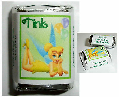 60 Tinkerbell Birthday Party Favors Candy Wrappers