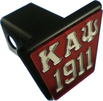 """Kappa Alpha Psi 1911 Trailer Hitch Cover [Red/Silver - 2""""R]"""