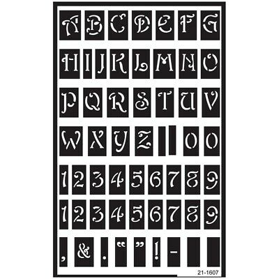 Large Alphabet Over 'n' Over Glass Etching Stencil - N Reusable Stencils Etch