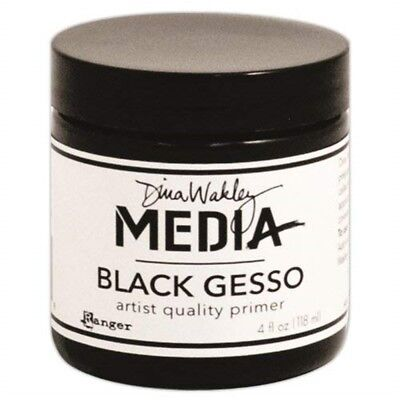 Dina Wakley Media Gypsum 4oz Jar, Black - Gesso Jar
