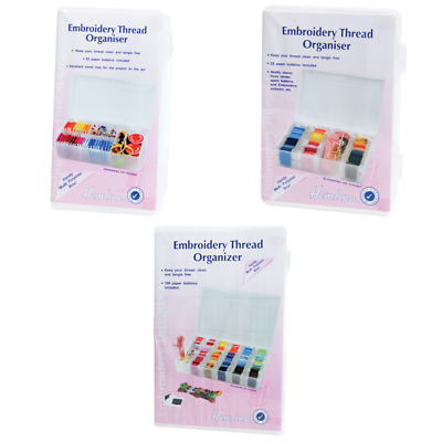 HEMLINE EMBROIDERY THREAD ORGANISER BOXES - Small / Medium / Large, M3003.S M L
