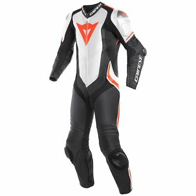 Dainese Laguna Seca 4 Leather 1-Piece Race Suit Black/White/Red 52 Euro/42 USA