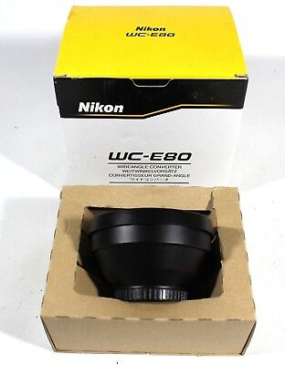 Nikon Wide Converter WC-E80 Lens Boxed UK Fast Post