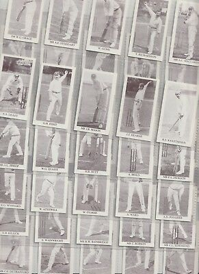 Cigarette / Tea Cards County Print Essex Crickters 1896 Set 50 From Collection