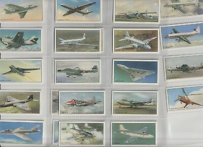Cigarette / Tea Cards Beaulahs Modern British Aircraft Set Of 24 From Collection