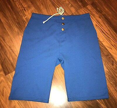 Vtg 50s 60s Blue MCGREGOR Swimming Bathing suit Mens MEDIUM Stretch Swim shorts