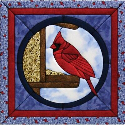Quilt Magic 12-inch By 12-inch Cardinal Kit - Kit12x12