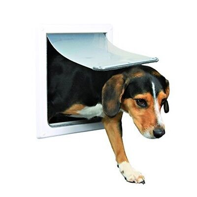 Trixie Pet Products 2-way Locking Dog Door, Small To Medium Dogs, White - Door