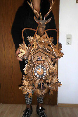 huge  musical dancers cuckoo clock ,black forest 2 melodies 3 weight all wood