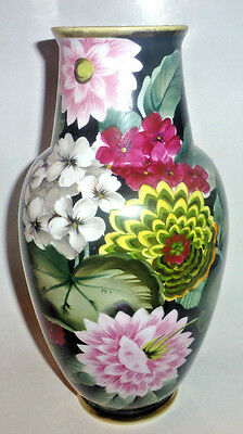 Antique NIPPON Japanese Porcelain Art Vase Hand Painted Flowers