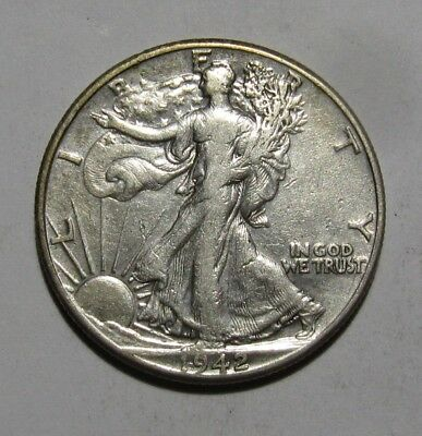 1942 Walking Liberty Half Dollar - Very to Extra Fine Condition - 17SU-2