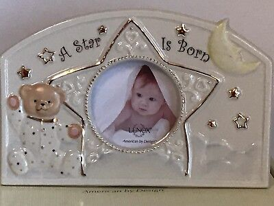 """LENOX """"A Star Is Born Frame"""" Baby Picture Frame - 2.5"""" x 2.5"""" Photo NEW IN BOX"""