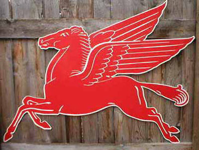 Mobil Gas Flying Red Horse Pegasus Metal Steel Sign Large 42""