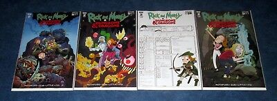 RICK AND MORTY vs DUNGEONS & DRAGONS #2 1:20 1:10 A/B variant set 1st print IDW