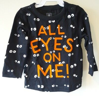 New Baby Gap All Eyes On Me Halloween Shirt Size 18-24 Month