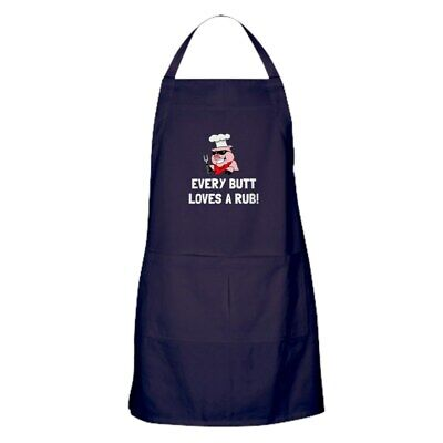 CafePress BBQ Butt Loves Rub Kitchen Apron (1068725174)
