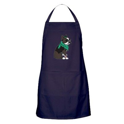 CafePress Hipster Boston Terrier Kitchen Apron (213583283)