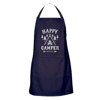 CafePress Happy Camper T Shirt Kitchen Apron (2031789736)