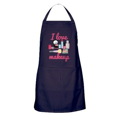CafePress I Love Makeup Kitchen Apron (1184384596)