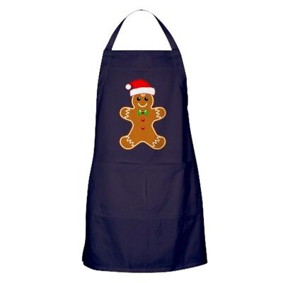 CafePress Gingerbread Man With Santa Hat Kitchen Apron (1010494771)
