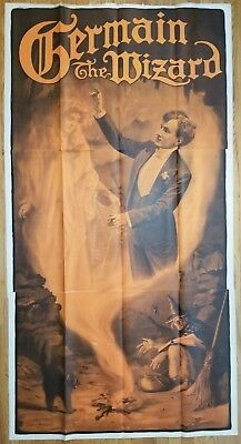GERMAIN THE WIZARD 3 SHEET POSTER The Witch's Cauldron circa 1908 - Karl