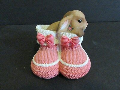 2003 Wee Whispers Baby Steps Bunny Figurine-New In Box