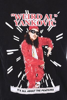 "Vtg 90S Weird Al Yankovic ""its All About The Pentiums"" T Shirt Mens Size Large"