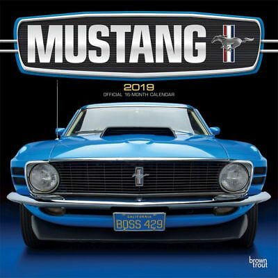 2019 Mustang Wall Calendar, Mustang by BrownTrout