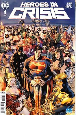 HEROES IN CRISIS #1 1st PRINT BOOSTER GOLD HARLEY QUINN SUPERMAN DC 1st ISSUE