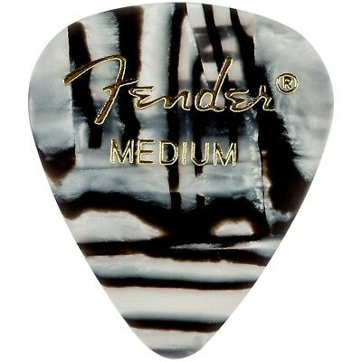 Fender 351 Shape Premium Picks, Zebra Celluloid Medium 12 Pack