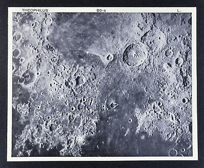 1960 Lunar Atlas Moon Map Photo Map - Theophilus B5--a Lick Observatory - Crater