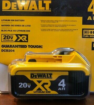 Dewalt Dcb204 20V Max* Premium Xr Lithium Ion Battery Pack  (4Ahr)