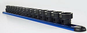 "Sunex Tools 2673 15 Piece Metric 1/2"" Dr Low Profile Impact Socket Set With"
