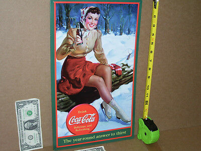 COKE - Ice Skater PRETTY GIRL - Gas Station - COCA-COLA Bottle -> BEAUTIFUL SIGN