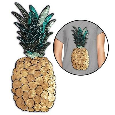 Embroidery Sew Iron On Patch Clothes Dress Transfer Fabric Pineapple Applique