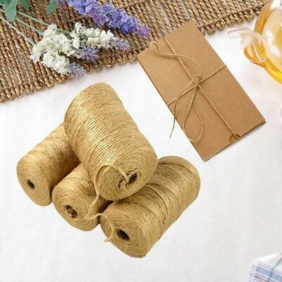 New 100M/Roll Natural Jute Rope Twine String Cord DIY Scrapbooking Craft Making