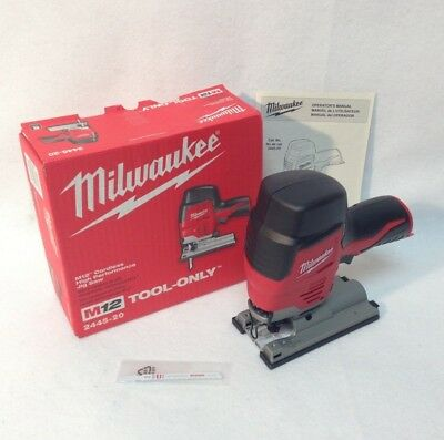 Milwaukee 2445-20 M12 12V Cordless Li-Ion High Performance Jig Saw - New in Box