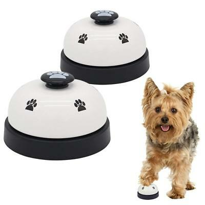 2x Pet Puppy Dog Cat Training Call Bell Meal Potty Training Communication Device