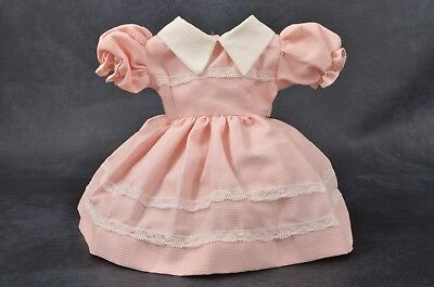 """Vintage 1950's SHIRLEY 18"""" - 20 """" Baby DOLL Outfit PINK Check LACE DRESS New"""