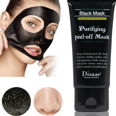 Bamboo Charcoal Purifying Peel-off Black Mask Blackhead Remover Deep Cleansing
